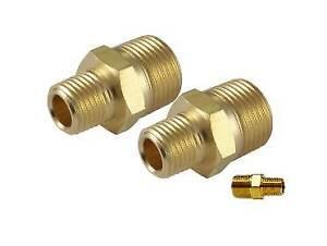 "1//2/"" Brass Male NPT Pipe Thread Hex Nipple Air Ride Suspension Hydraulics"