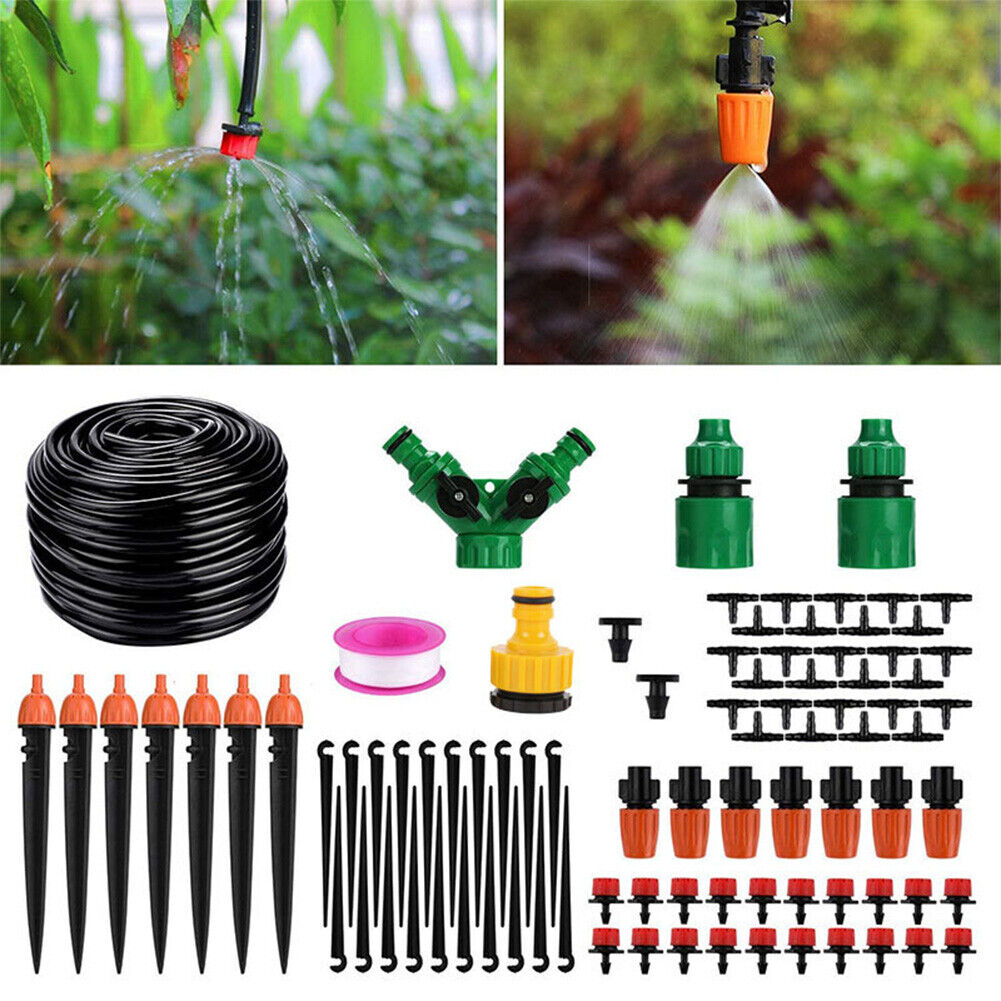 30/40M Automatic Drip Irrigation Water Set Outdoor Garden Spray Cooling System