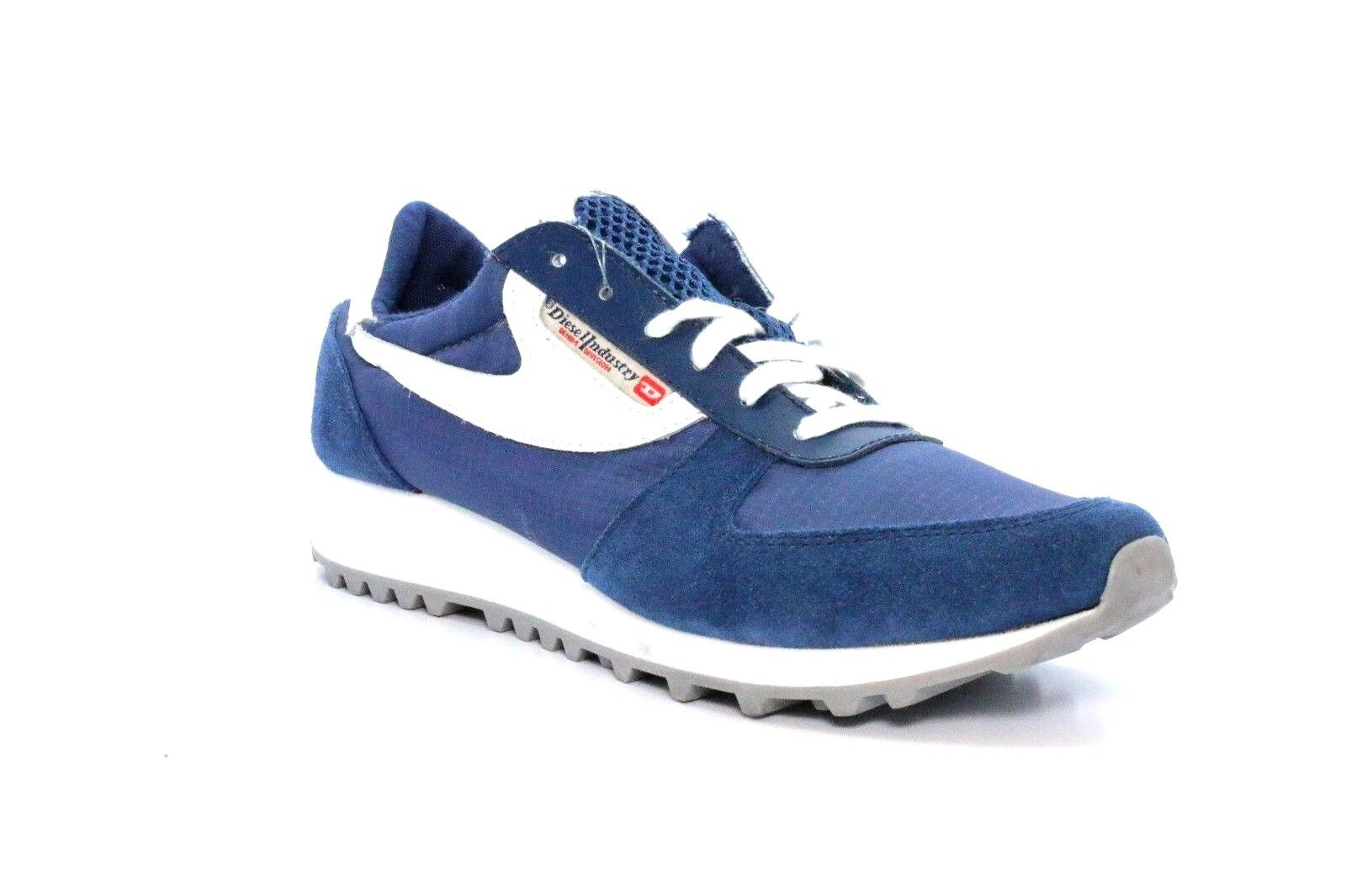 DIESEL Y01100 PS780 H4009 SHERUN Wmn's (M) bluee White Suede Lifestyle shoes