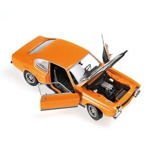 1970-Ford-Capri-Mki-Rs-2600-Orange-Noir-1-18-Minichamps-Diecast