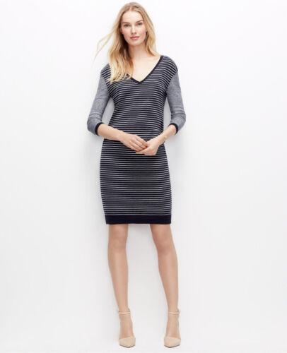 Pullover Und Streifen Taylor Kleid Blau Damen Ann Weiß d240 – Farbe 7q846wB