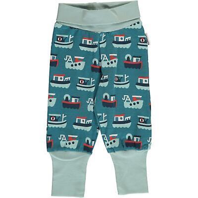 SS19 Maxomorra Trawler Print Rib Pants Organic Cotton Scandi Trousers