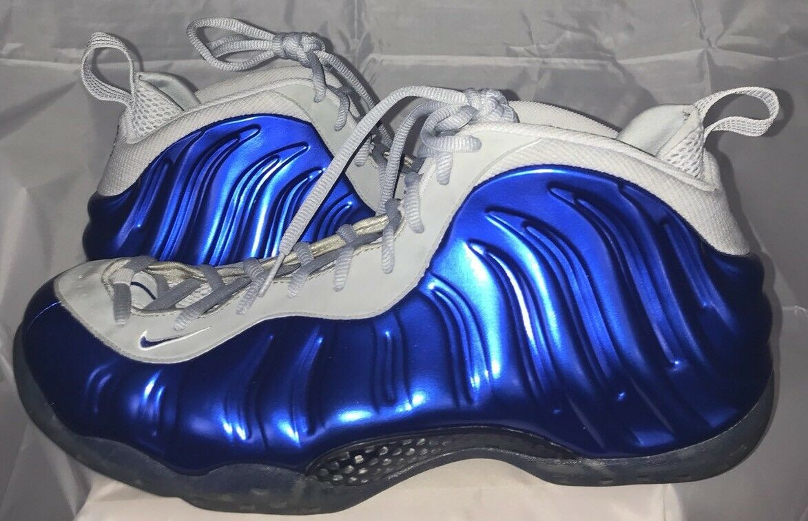 Nike Air Foamposite One Sport Royal Wolf Grey Size 15 Rare Foams Limited Blue