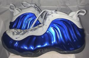 Nike Air Foamposite One Sport Royal Wolf Grey Size 15 Rare Foams