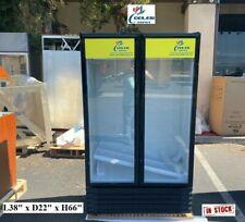 New Two Glass Door Refrigerator Cooler Beverage Merchandiser Nsf 38 X 22 X 66