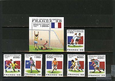 Effizient Togo 1996 Sc #1713-1719 Fußball World Cup Frankreich 6er Set Stempel & S/s Mnh Motive