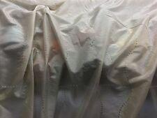 Crema perlas de Diamantes Tejido de tafetán de seda sintética Slub Confección Decoración para Boda