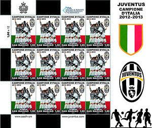 Foglietto-Francobolli-Scudetto-Juve-2013-San-Marino-Francobollo-Juventus-RARO