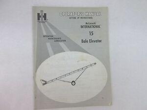 International-Harvester-McCormick-15-bale-Elevator-Operators-Manual