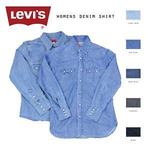 reputable site 2406a 11544 Dettagli su VINTAGE Da Donna Levis Camicie di jeans XS, S, M, L, XL, XXL-  mostra il titolo originale