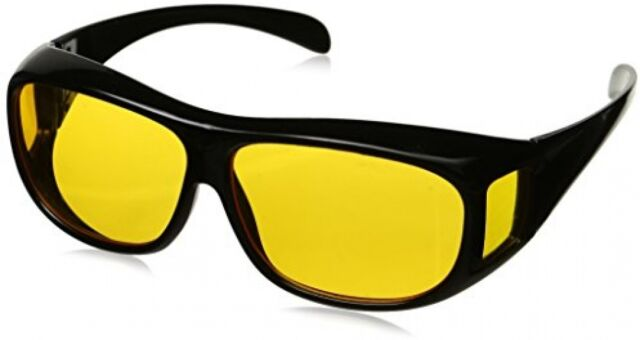0b61d5549c HD Night Vision Driving Glasses Wraparounds Anti Glare Wrap Around (without  bag)