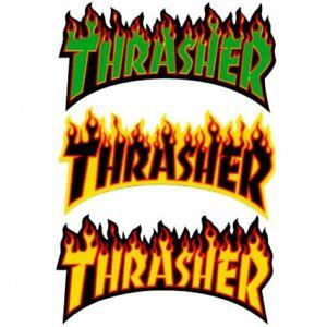 d2e0ee8b8c95 Image is loading THRASHER-FLAME-LOGO-SKATEBOARD-MAGAZINE-STICKER -VARIOUS-COLOURS-