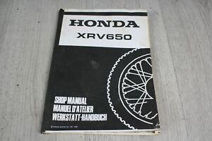 Manual German French English Honda XRV 650 Africa Twin RD03 88-90