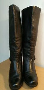 LADIES-CLARKS-LEATHER-BOOTS-SIZE-5-WINTER-CHRISTMAS-TEXTURED-LEATHER