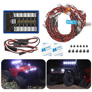 US-LED-Light-Kit-Brake-Headlight-Signal-2-4ghz-PPM-FM-For-HSP-RC-1-10-Car-Truck
