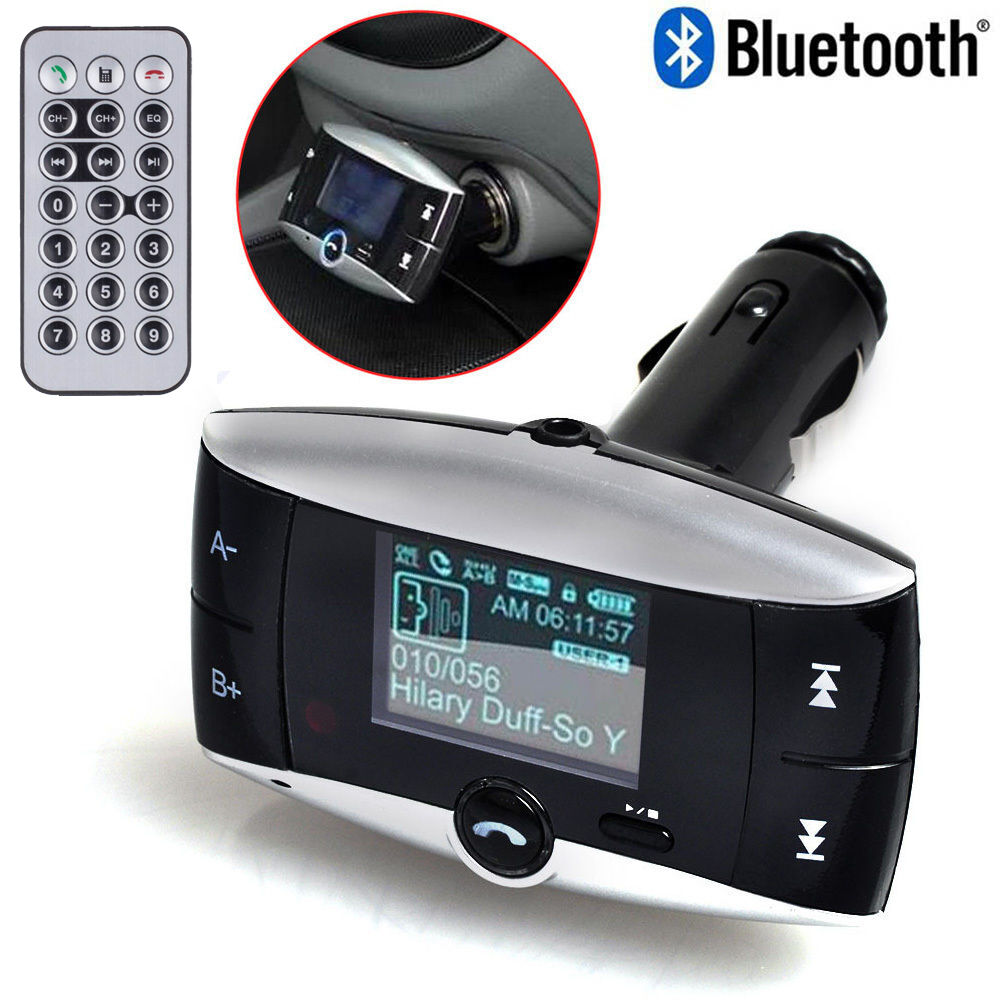 Bluetooth Car FM Transmitter MP3 Player Radio Adapter Kit Charger w// LCD Remote