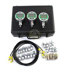 Sinocmp 70p 16p Digital Pressure Gauge Kit With 3 Gauges For Cat Komatsu Case