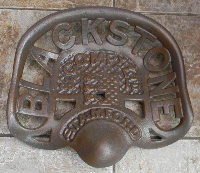 SUPERB HEAVY CAST IRON TRACTOR SEAT BLACKSTONE & COMPANY LTD,STAMFORD