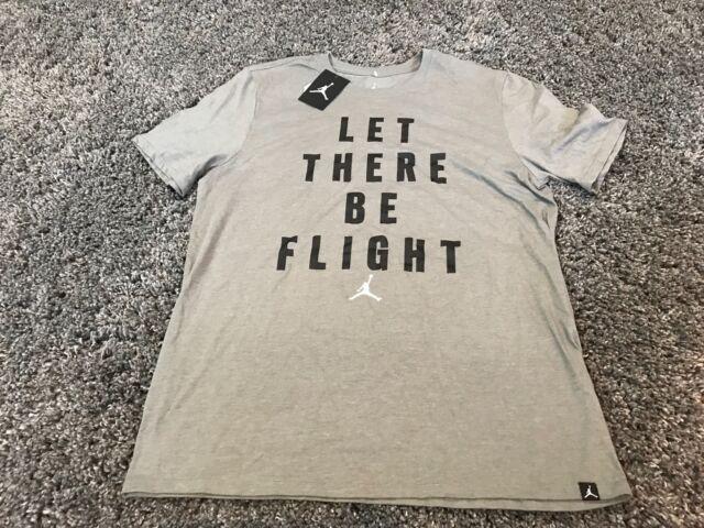 8a8c13a9acda Nike Air Jordan Let There Be Flight gray black white t shirt L Chicago  Bulls 23