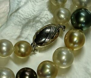 Certificate-South-sea-BLACK-Tahiti-gold-peacock-white-pearl-necklace-11-5mm-7k