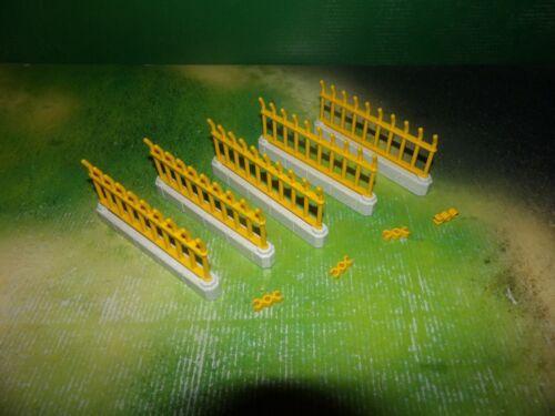 Playmobil Zaun Gelb ZOO 5 Elemente plus 5 Verbinder
