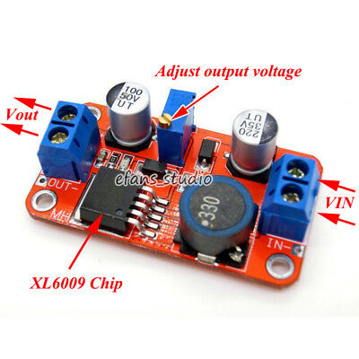 5 Pack Step Up Boost Converter Module XL6009 DC to DC 3.0-30 V to ...