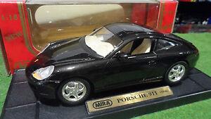 Porsche 911 996 Carrera Coupé 1998 Noir 1/18 Mira 6927 Voiture Miniature