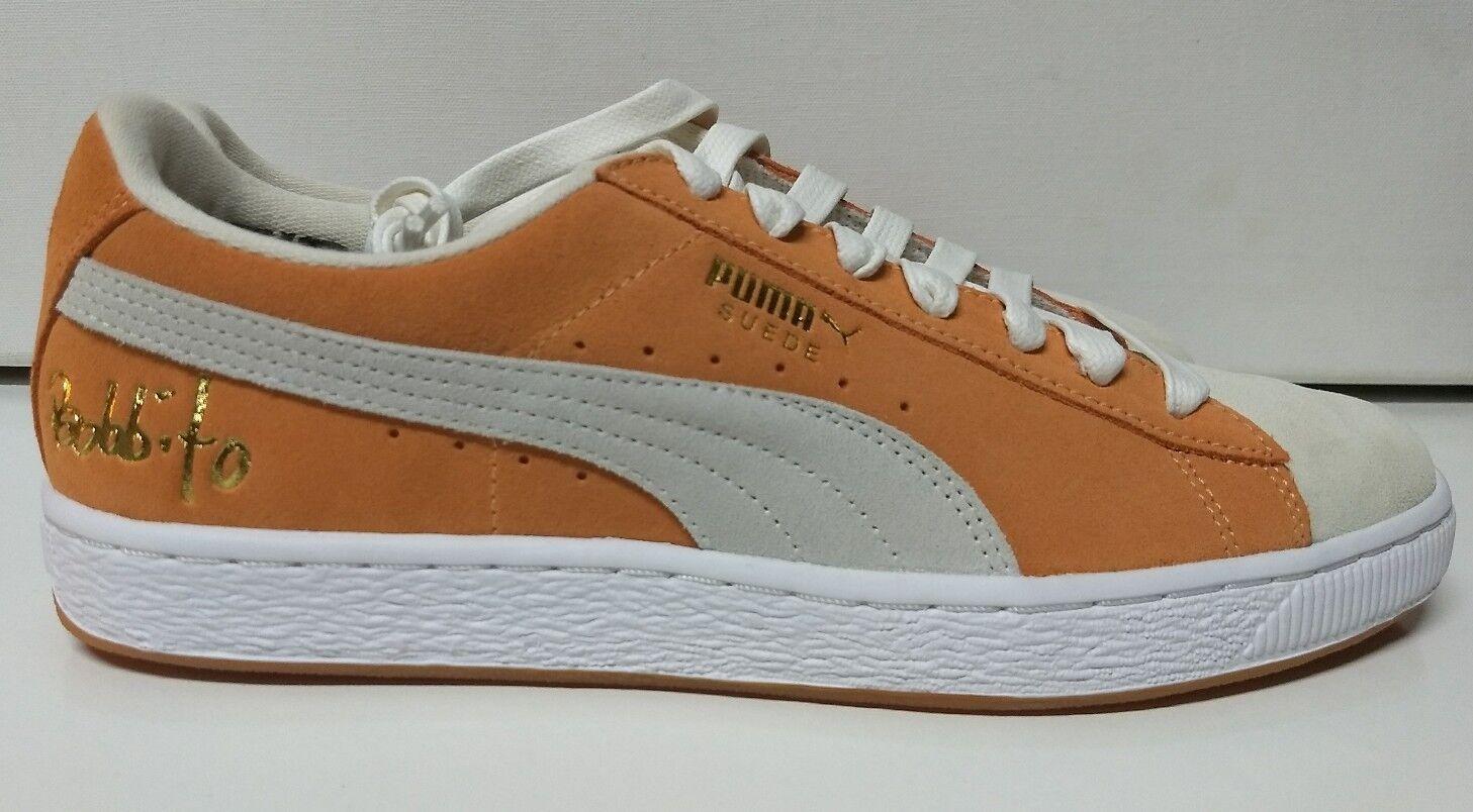 Puma Suede Classic Bobbito Garcia Size 11.5 Apricot Buff White orange Men's shoes