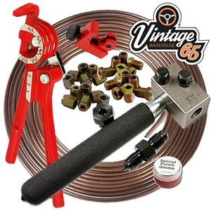 Golf-Corrado-Beetle-T2-25ft-3-16-Cupro-Nickel-Kunifer-Brake-Line-Pipe-Repair-Kit