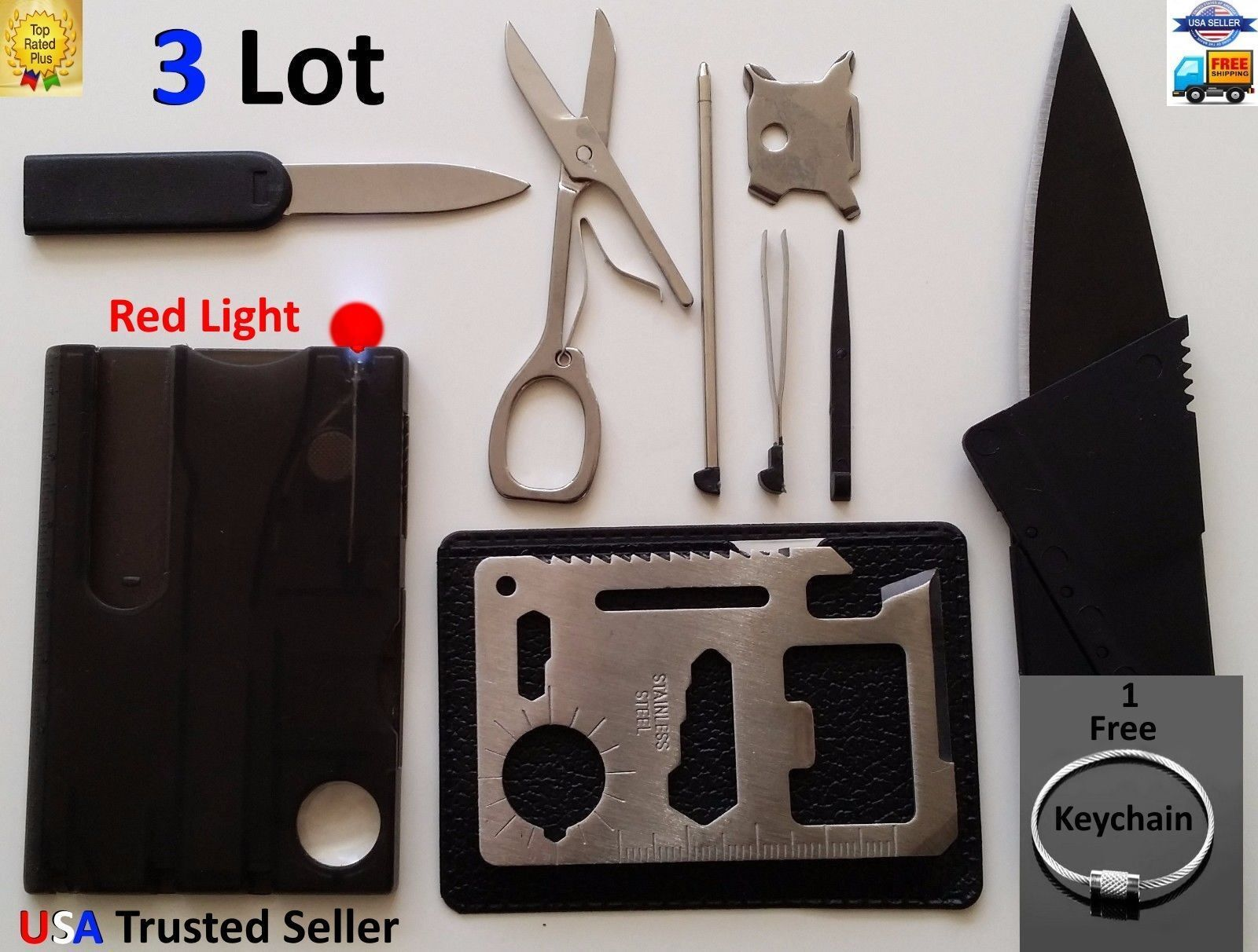 Outdoor Tools Stainless Steel Multi-function Outdoor Survival Kit Card GB