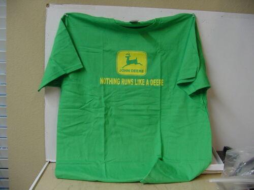 JOHN DEERE  GREEN T-SHIRT M NEW SIZES AVAIL XL