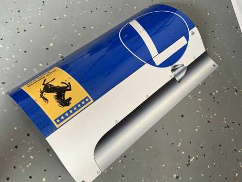 WOW!!!Curved FERRARI 158 NART Formula 1 Race Car Door Style Sign