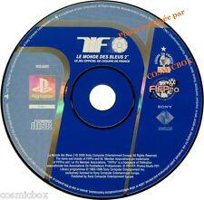PlayStation 1 Le MONDE des BLEUS 2 jeu foot équipe de France SONY psx ps1 ps2