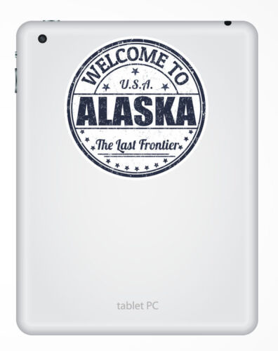 2 x 10cm ALASKA USA Vinyle Autocollant iPad portable voyage voiture bagages tag decal # 5220