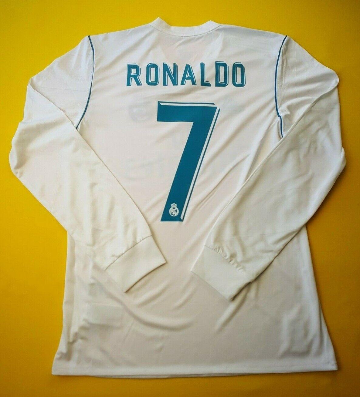 5+ 5 Ronaldo Real Madrid Camiseta pequeña 2018 camisa de mangas largas B31106 Adidas ig93