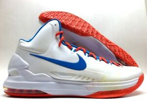 buy online 199f0 c91eb Image is loading NIKE-ZOOM-KD-V-KEVIN-DURANT-WHITE-PHOTO-