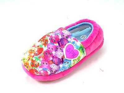 Niñas Nuevo Shopkins Elástico Zapatillas Rosa resbalón en casa zapatos talla 6 - 2