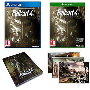 Fallout-4-Xbox-One-PS4-Acero-libro-y-postales-NUEVO-ENTREGA-RAPIDA-ESTUPENDA-Gratis