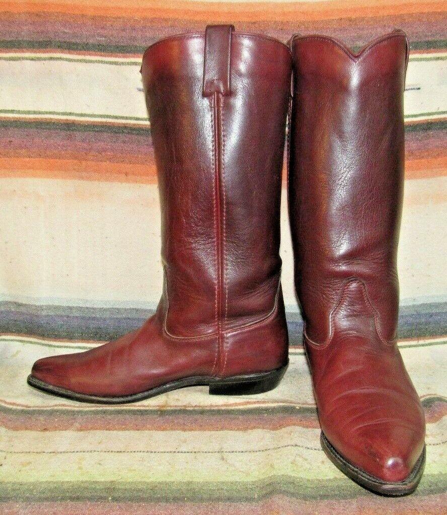 Femme Vintage Capezio Cuir marron bottes De Cowboy 9.5 M très bon état utilisé