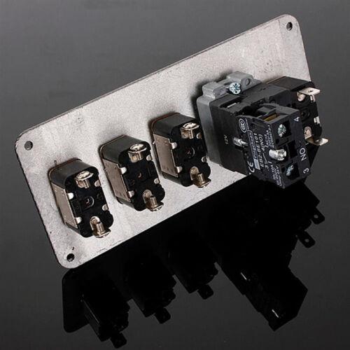 Interruptor de ignición de Carreras Motor Panel LED de superficie de botón de inicio alternar de fibra de carbono