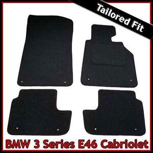 BMW-3-Series-E46-Convertible-1998-2006-Tailored-Carpet-Car-Floor-Mats-BLACK