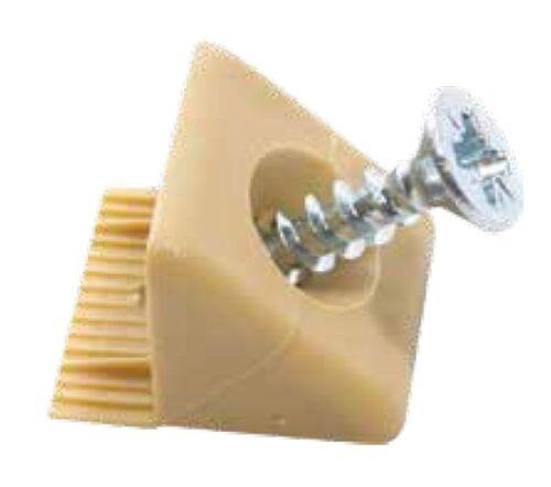 48 Rückwandverbinder Schubladeboden Halter Stabilisatoren weiß m.Schraube Nase