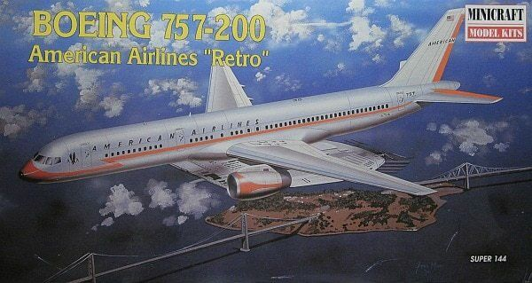 Minicraft 1 144 kit aereo boeing 757 - 200 american american 200 airlines 30a50f