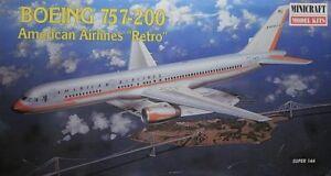MINICRAFT-1-144-KIT-AEREO-BOEING-757-200-AMERICAN-AIRLINES-034-RETRO-034-ART-14463