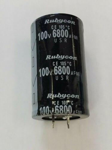 1 PC 6800UF 6800mfd 100V Electrolytic Capacitor 105 degrees US FREE SHIP 6,800uF