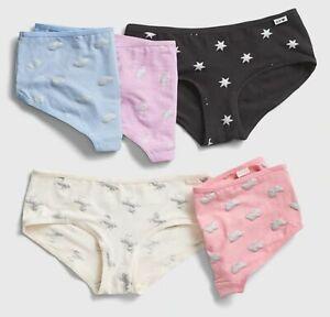 New-Gap-Girls-5-Pack-Panties-Hipster-Bikinis-Underwear-7-8-10-12-16-year-Glitter
