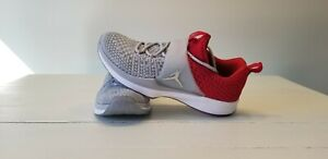 new styles d625b 7a66c Image is loading Nike-Jordan-Trainer-2-Flyknit-Wolf-Grey-Red-