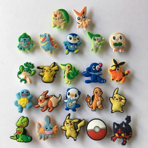 10-22pcs//lot Pokemon PVC Shoe Charms Accessories fit in Shoes /& Bracelets Gifts