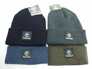 be88d5d3661 TIMBERLAND Men s Cuffed Beanie  Black Grey Olive Blue Winter Hat ...