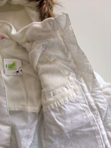 Winterjacke weiß Parka 122 128 Mädchen Stepp Jacke wasserabweisend Schnee warm